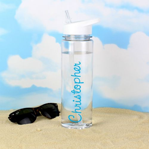 Personalised Blue Love Island Water Bottle